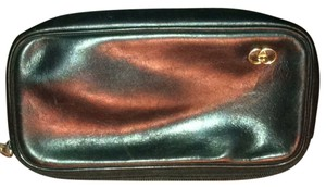 Gucci Leather Cosmetic Vintage Black Clutch