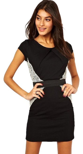 Little Mistress Contrast Illusion Hourglass Pencil Color Fitted Asos Nasty Gal Dress