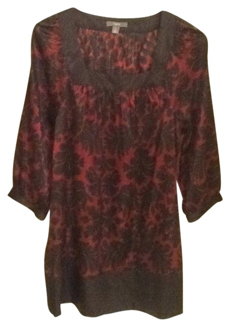 Apt. 9 Tunic Top Black & Burgundy