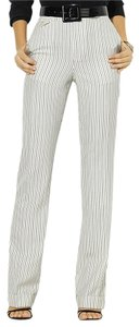 Ralph Lauren Wool Lined Striped New With Tags Trouser Pants Cream/Black