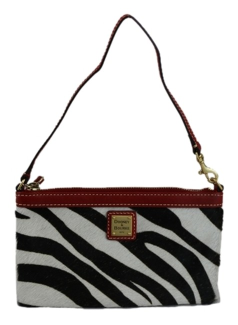 Item - Zebra Print Pochette Red Calf Hair Wristlet