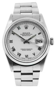 Rolex Rolex 16200 Datejust White Roman Dial with Oyster Band