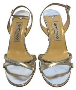 Jimmy Choo Party Sandal Patent Silver Formal