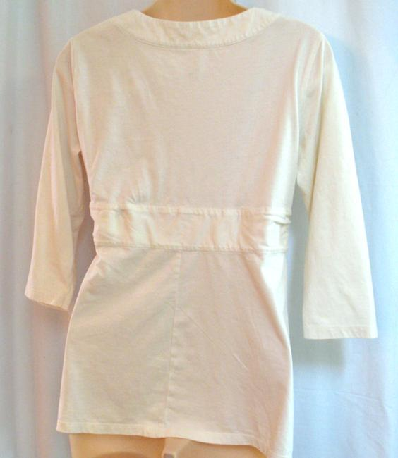 Patagonia L Twist Bust 55% Cotton 45% Tencel Knit Top Off-White