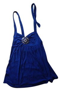 Easel Royal Blue Halter Top