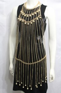 Other Women Gold Metal Full Body Chains Fashion Jewelry Harness Dress Necklace