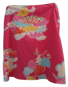 Esprit Skirt pink with floral print
