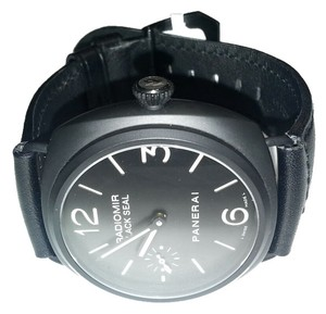 Panerai Panerai Radiomir Black Seal Black Dial Black Leather Men's Watch