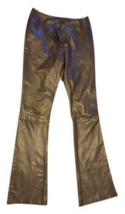 rachelle Leather Skinny Pants black