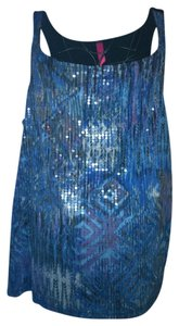 Pure Energy Sequin Top turquoise