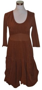 Brown Maxi Dress by Oizini Corduroy
