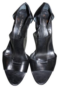 CoSTUME NATIONAL Black Leather Sandals