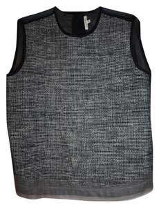 Hache Top Black & White Tweed