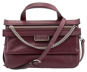 Marc Jacobs Top Of The Chain Satchel in Burgundy