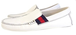 Gucci White Leather Loafers Shoes