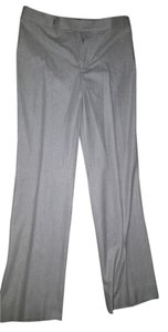 Ralph Lauren Label Gray Wool Herringbone Dress Trousers Wide Leg Pants Beige, Gray