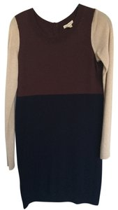 Club Monaco short dress cream maroon navy Color-blocking Cashmere on Tradesy