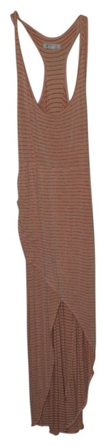 Peach with grey stripe Maxi Dress by Element Maxi High Low Relaxed