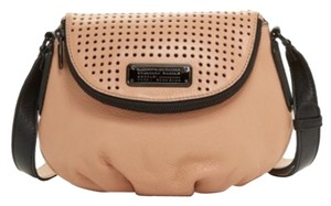 Marc by Marc Jacobs Perforated Q Natasha Beige Mini Leather Cross Body Bag