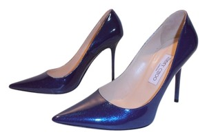 Jimmy Choo Patent Leather Pointy Toe blue Pumps