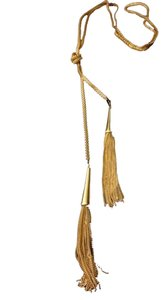 T.J.Maxx Gold Tassel Necklace