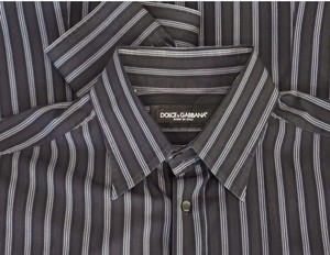 Dolce&Gabbana Black Cotton Dress Shirt