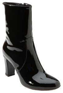 Aquatalia by Marvin K. Patent Leather Ankle Black Boots