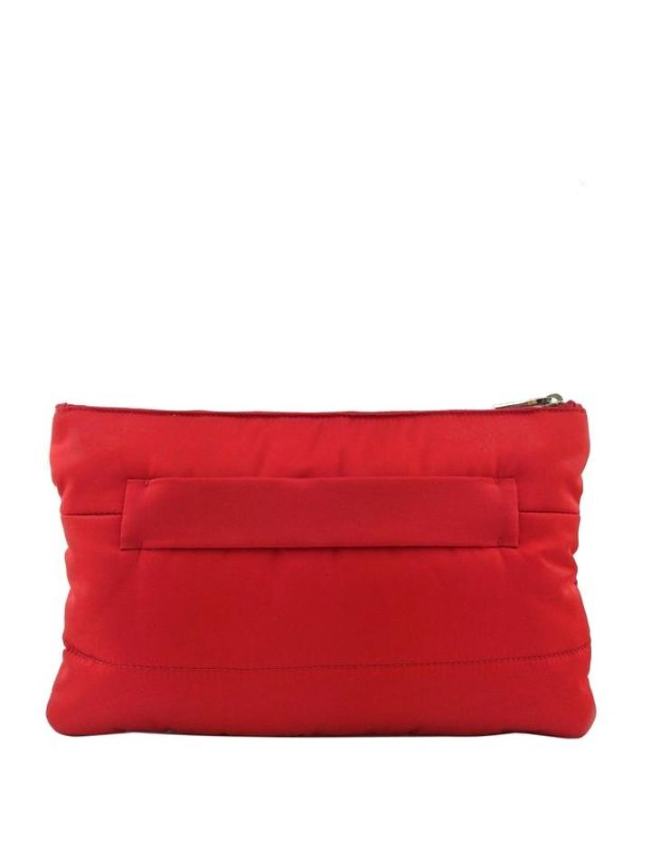 prada shopper nylon - Prada Tessuto Bomber Red Clutch on Sale, 45% Off | Clutches on ...