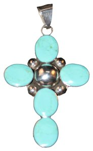 Other TAXCO STATEMENT CROSS IN STERLING / TURQUOISE