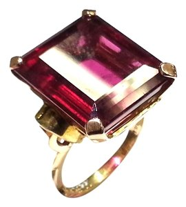 Cartier Cartier 21.50 Carats Rubellite Ring In Rose And Yellow Gold, Ca. 1940's