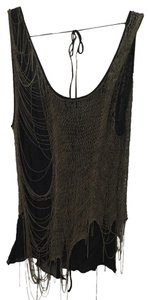 Cecilia De Bucourt Top Black with bronze chain
