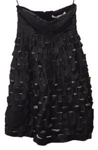 Diane von Furstenberg Leather Cut Out Strapless Little Cocktail Leather Babydoll Short Holiday Party Dvf Dress