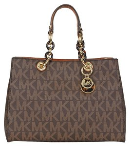 Michael Kors Cynthia Medium Satchel in Brown