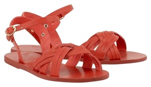 Ancient Greek Sandals Electra Handmade Leather Poppy (Red) Sandals