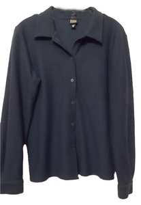 Eileen Fisher Wool Crepe Top Teal