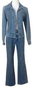 New York & Company Glitter Relaxed Fit Jeans-Light Wash