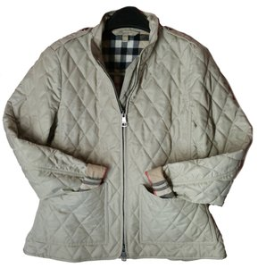 Burberry Quilted Large Brit Stone Jacket