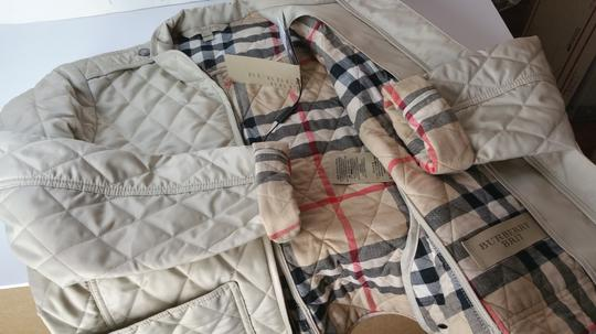 Burberry Brit Edgefield Quilted Women's Large Heritage Stone Jacket chic