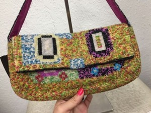 Christiana Beaded Multicolor Shoulder Bag