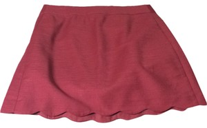 Ann Taylor LOFT Mini Skirt Dark Pink / Berry