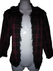 Grace Dane Lewis Black/Maroon Jacket
