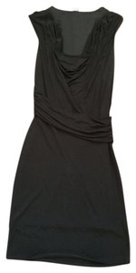 Three Dots Lbd Bodycon Scoop Neck Draped 3 Dots Cocktail Funeral Little Sleeveless New Years Versatile Scoop Neck Dress