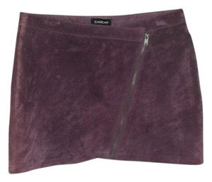 bebe Mini Skirt wine plum