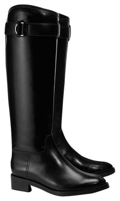 Tory Burch Black Grace Equestrian Riding Leather 6.5m Boots/Booties Size US 6.5 Regular (M, B) Tory Burch Black Grace Equestrian Riding Leather 6.5m Boots/Booties Size US 6.5 Regular (M, B) Image 1