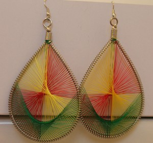 Other Beautiful Huge Teardrop Silk Earrings