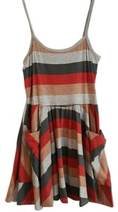 BDG short dress Gray and red on Tradesy