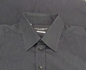 Dolce&Gabbana Men Black Cotton Dress Shirt