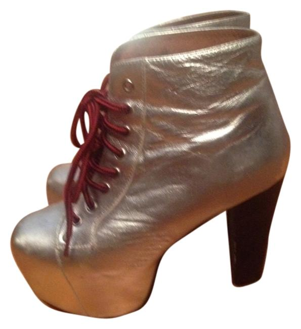 Item - Silver Boots/Booties Size US 6.5 Regular (M, B)