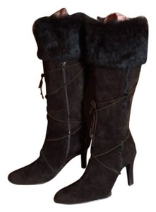 Coach brown suede and fur boots Brown Boots