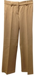 Theory Beige Brown Slacks Size 2 Dressy Office Career Work Trouser Pants Brown Beige